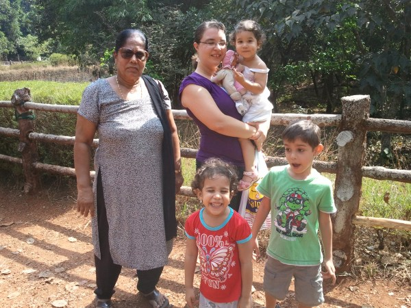 January 1, 2013 - zoo outing in Mangalore with Glad's mom.