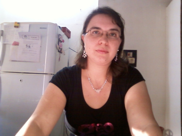 I'm always the one behind the camera so I don't have many of myself. This one is from Feb. 2012.
